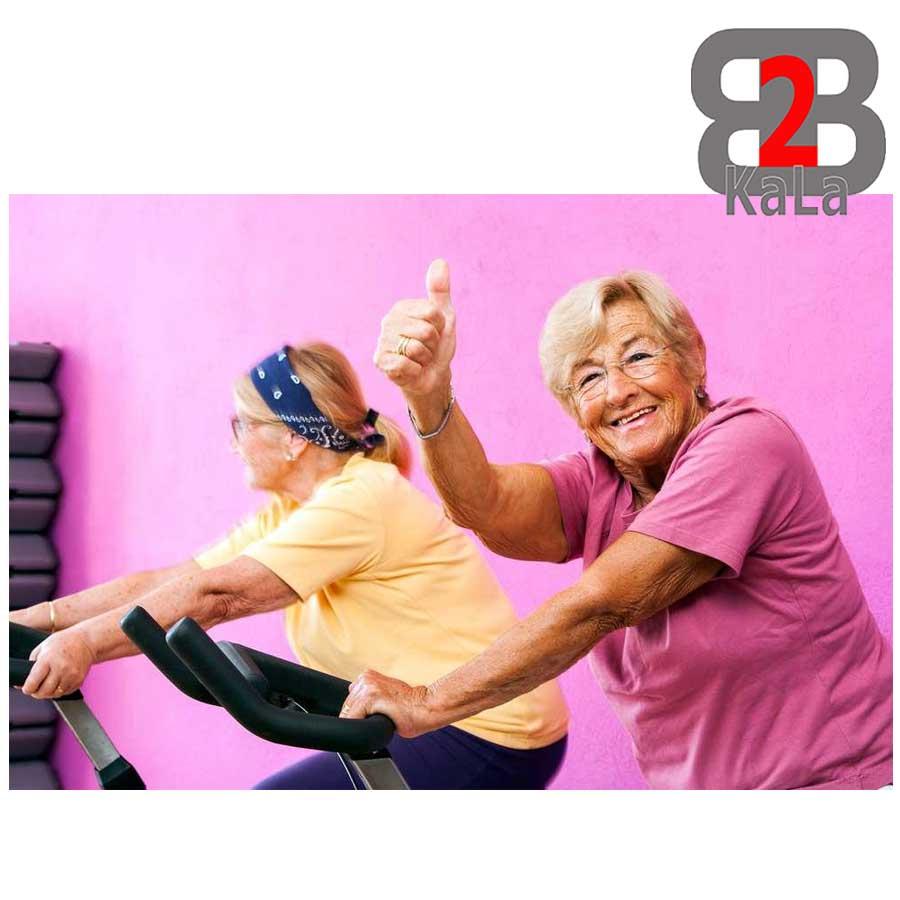 تقویت عضلات در پیری با دوچرخه ثابت